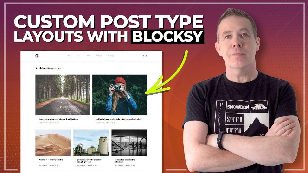 Easy Custom Post Types with the Blocksy Theme