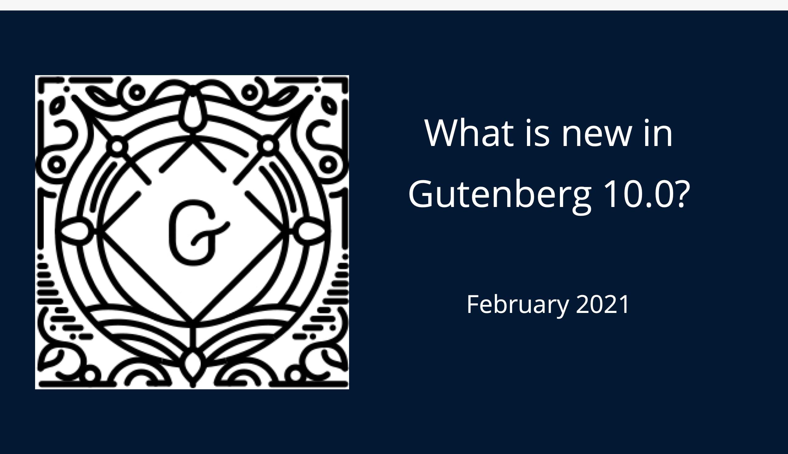 Gutenberg 10.0 Banner