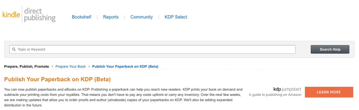 KDP Print Adds Ability for Author to Order Wholesale Copies