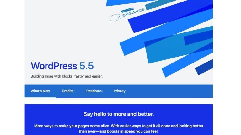 Wordpress 5.5