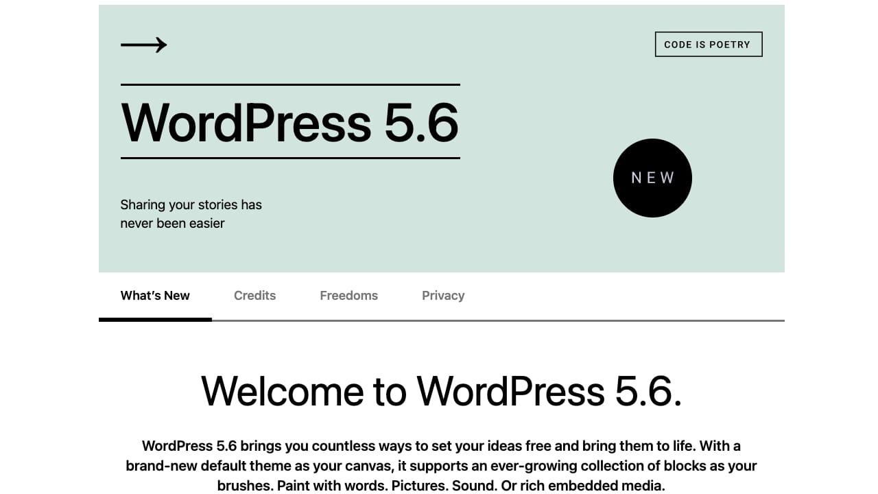 WordPress 5.6 Field Guide